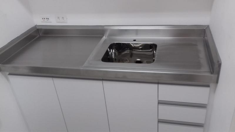 Pia em Aço Inox para Cozinha Industrial em Biritiba Mirim - Pia em Inox Personalizada