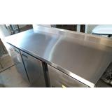balcão de encosto refrigerado inox em Jandira