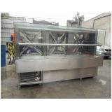 balcão de inox refrigerado para alimentos em Suzano