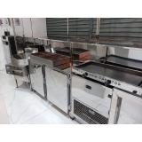 balcão de inox refrigerado para lanchonete em Santo André