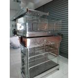 balcões de inox refrigerados para doces no Rio Grande da Serra