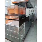 balcão de inox refrigerado para lanchonete