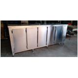 balcão de inox refrigerado sob medida