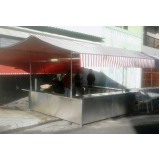 barraca de inox para pastel em Suzano