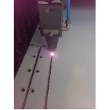 serviço de corte a laser em aço inox