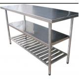 mesa de inox para restaurante em Diadema