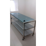 mesa de inox personalizada para cozinha em Poá