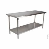 mesa de inox desmontável