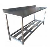 mesa de inox para padaria
