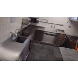pia em inox para cozinha industrial em Santa Isabel